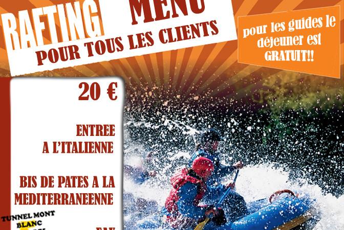 menù  Rafting